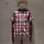 White Mountaineering Wardrobe MADRAS CHECK HALF SLEEVE W POCKET SHIRT17850yen