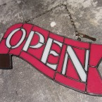 HEAVOGON Stained Glass Open Sign Red White41790yen