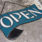 HEAVOGON Stained Glass Open Sign Blue White41790yen