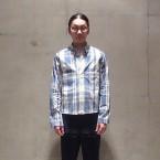 「SUNSEA」 Reversible Cotton Check Shirt/Blue Gray Check 税抜き32000yen+税