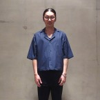 「SUNSEA」 Cotton Fried Shrimp Shirt/Navy 税抜き24000yen+税