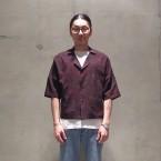 「SUNSEA」 Overdye Cowboy Fried Shrimp Shirt/BK Wine Red 税抜き25000yen+税