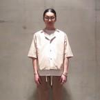「SUNSEA」 Cotton Fried Shrimp Shirt/Marron Mont Blanc 税抜き24000yen+税