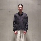 「SUNSEA」 Reversible Cotton Shirt/BLACK 税抜き30000yen+税