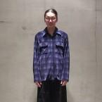「NEEDLES」 Cut-Off Classic Shirt Block Plaid Velveteen/Biue 税抜き31000yen+税