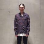 「SUNSEA」 Overdye Cowboy Shirt/Black Deep Blue 税抜き28000yen+税
