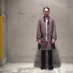 「NEEDLES」 Banded Collar Coat Peach Skin/Olive 税抜き59000yen+税