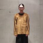 「South2 West8」 Side Slit C/N Shirt Micro Fleece/Brown 税抜き15000yen+税