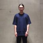 「SUNSEA」 Layered T/NAVY 税抜き12000yen+税