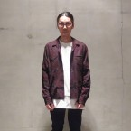 「SUNSEA」 Overdye Cowboy Shirt/Black Wine Red 税抜き28000yen+税