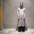 「NEEDLES」 Cut-Off Long Sweat Hoody Cotton Fleece/Grey 税抜き23000yen+税