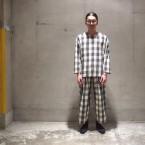 「Sasquatchfabrix.」 SASHIKO BLOCK CHECK SMOCK/WH×BK 税抜き30000yen+税