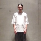 「SUNSEA」 Cut Off Raglan Sleeve T/White 税抜き10000yen+税