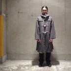 「SUNSEA」 Melton Knight Coat/Charcoal Gray 税抜き85000yen+税
