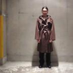 「SUNSEA」 Melton Knight Coat/Rusty Brown 税抜き85000yen+税