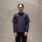 「SUNSEA」 Chamvil Sweatshirt/Black 税抜き27000yen+税