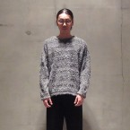 「White Mountaineering」 SHAGGY BIG SILHOUETTE PULLOVER/CHARCOAL 税抜き23000yen+税