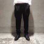 「WHOWHAT」 RHOMBIC PATCH PANTS/BLACK 税抜き33000yen+税