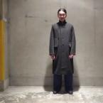「SUNSEA」 British Wool Reversible Coat/Ash Black 税抜き80000yen+税