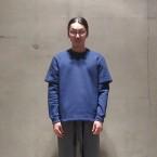 「SUNSEA」 Chamvil Sweatshirt/Blue 税抜き27000yen+税