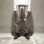 「WHOWHAT」 JOHAN PANTS/CHACOAL 税抜き38000yen+税