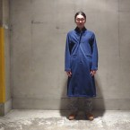 「SUNSEA」 Cotton Mouton Coat(C.M.C)/Blue 税抜き60000yen+税