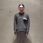 「SUNSEA」 Commando Sweater/BK Gray Mix 税抜き55000yen+税