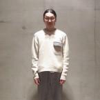 「SUNSEA」 Commando Sweater/Off Beige Mix 税抜き55000yen+税