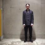 「Sasquatchfabrix.」 WA-NECK CHINA JKT/BK×PURPLE 税抜き78000yen+税