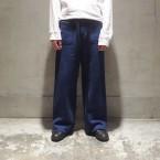 「SUNSEA」 Cotton Mouton Pants (C.M.P)/Blue 税抜き28000yen+税