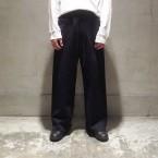 「SUNSEA」 Cotton Mouton Pants (C.M.P)/Bk.Navy 税抜き28000yen+税